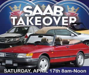 SAAB car show in Franklin, KY on April 17, 2021 8am to noon. Sponsored by Moose Proof Automotive